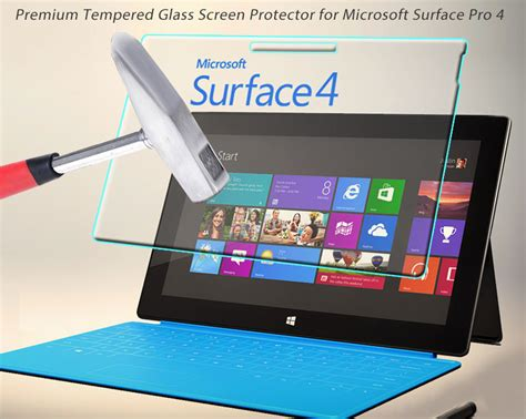 Microsoft Surface Pro 4 Tempered Glass Mocolo Premium Screen Guard premium tempered glass screen protector guard for