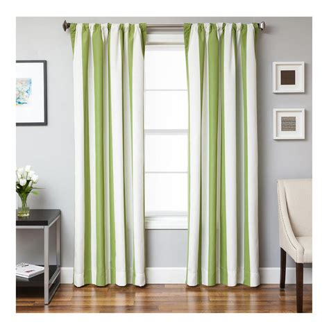 sunbrella curtains sale sunbrella 84 stripe rod pocket curtain panel natural