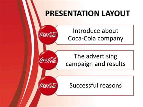product layout of coca cola what make the advertising caign of coca cola successfull