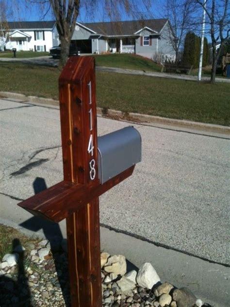 Handmade Mailbox - handmade mailbox post wrap aromatic cedar by holtzer