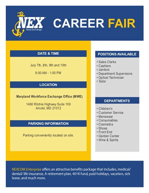 Maryland Mba Employment Statistics by Nexjob Flyer Annapolis Update