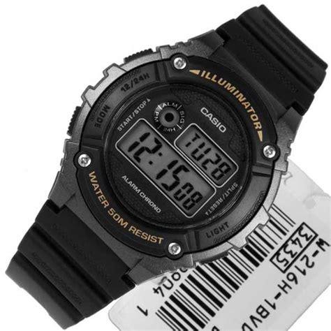Jam Casio Original W 216h 1b jam tangan casio digital w 216h original garansi resmi