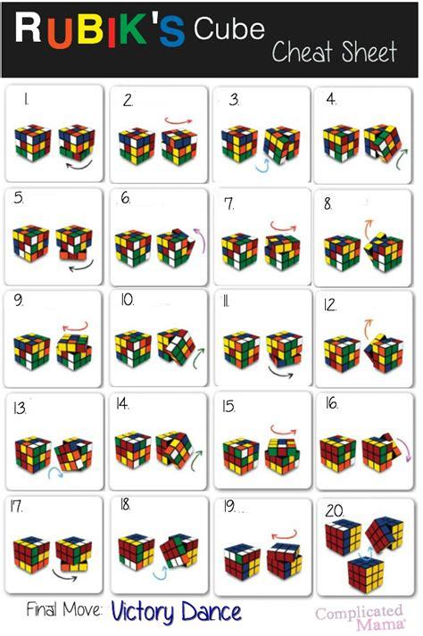 printable instructions on how to solve a rubik s cube how to solve rubik s cube cheat sheet life hacks random