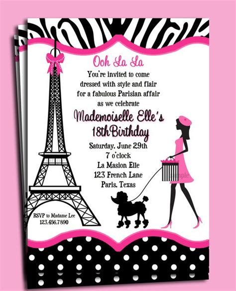free printable birthday cards in french 17 best images about tarjetas torre eiffel on pinterest