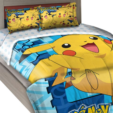 pokemon twin bedding pokemon twin full comforter set big pikachu bedding