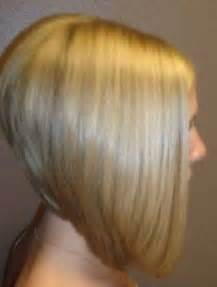 a line haircuts front and back views long angled stacked bob haircut back view