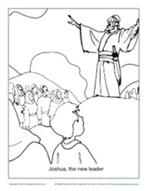 free bible coloring pages joshua joshua the new leader coloring page