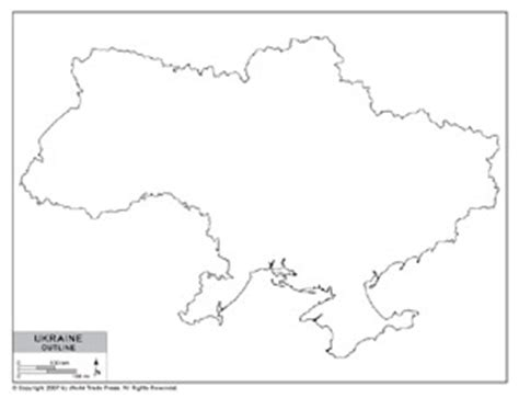 Ukraine Outline Map by Outline Map Of Ukraine By Bestcountryreports
