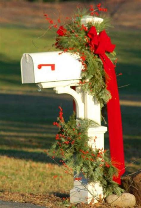 Mailbox Decorations Ideas mailbox decoration tis the season