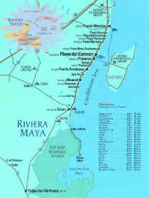 Riviera Maya Mexico Map by Maya Mexico Tourist Beach Map See Map Details From