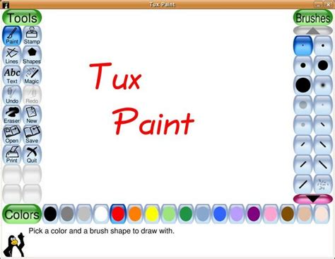 painting for free to play pin play tux paint on
