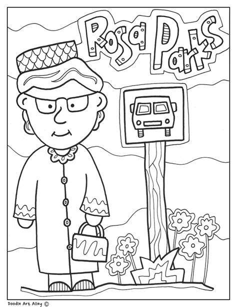 rosa parks coloring page rosa parks coloring pages classroom doodles