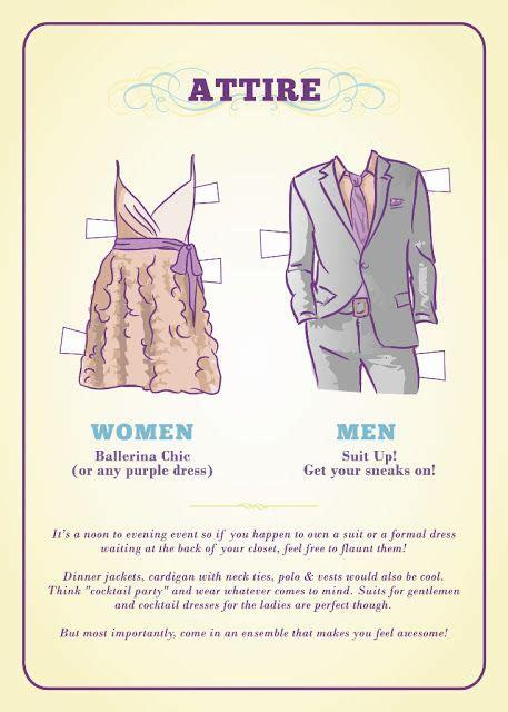 How To Write Formal Attire On Wedding Invitations