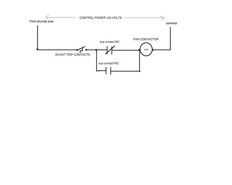 shunt trip breaker schematic exhaust fan get free image about wiring diagram