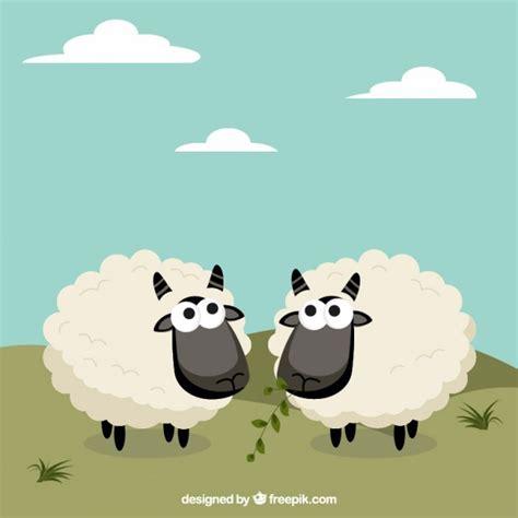 imagenes animadas ovejas ovejas monas en estilo de dibujos animados descargar