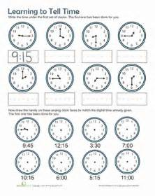 time practice worksheet education com