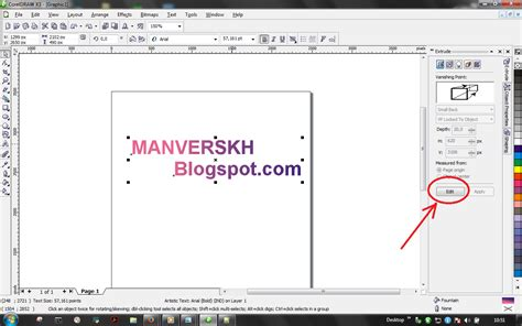 tutorial membuat gambar 3d dengan coreldraw cara membuat text 3d dengan coreldraw manverskh