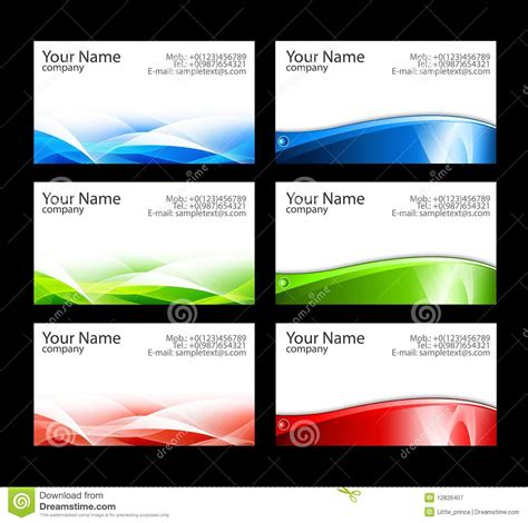 business card template free business cards templates illustrator free