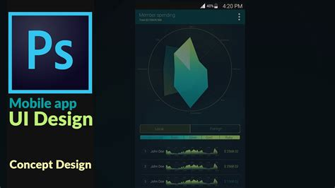 application design concepts for industrial applications mobile application ui design concept in adobes photoshop