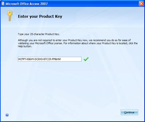 microsoft office 2007 with serial key activated