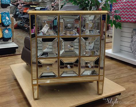 the stylish home goods mirrored nightstand popular