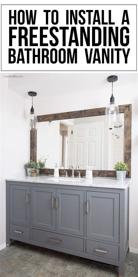 how to install a freestanding bathroom vanity vanities