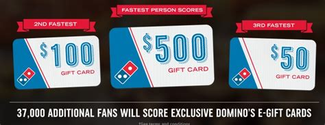 Win Domino S Gift Card - possible free domino s gift card 3 500 value