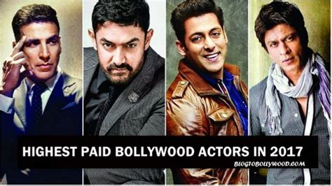 bollywood actress salary list 2017 list of the highest paid bollywood actors in 2017 on the