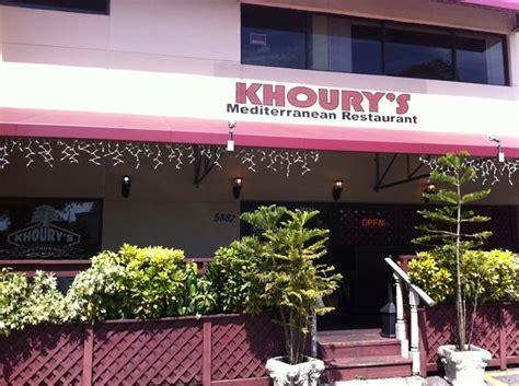 khoury s mediterranean restaurant south miami menu
