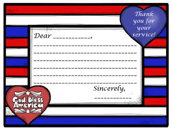 template for sending a card to a veteran thank a veteran patriotic thank you letter template for