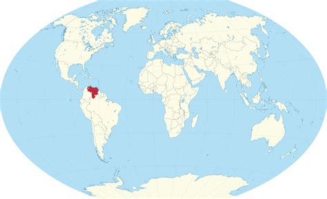 caracas on world map where is located