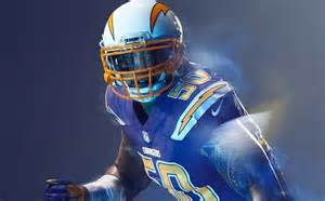 san diego chargers colors broncos and chargers unis for tonight they should both