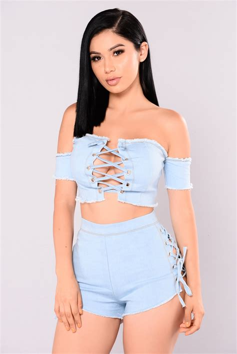 Titania Top titania denim top light