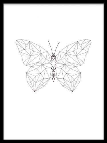 geometric butterfly poster poster med geometrisk fj 228 ril