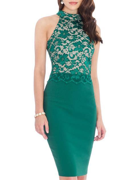 Halter Sleeveless Lace Dress sleeveless lace crochet halter patchwork