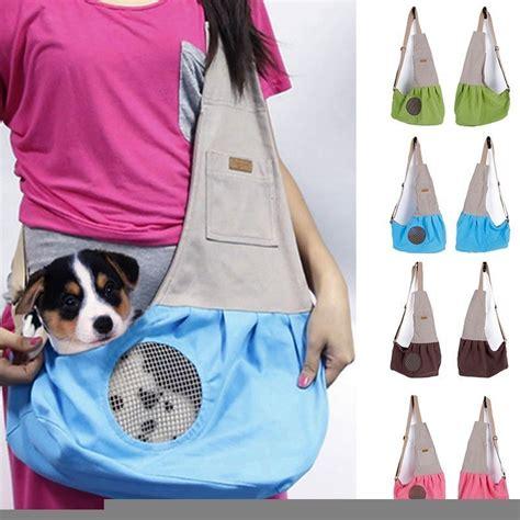 Cat Shoulder Pouch pet travel carrier breathable canvas sling bag puppy soft