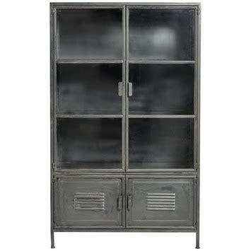 karwei wood woood metalen vitrinekast ronja zwart 167x99x40 5 cm kopen
