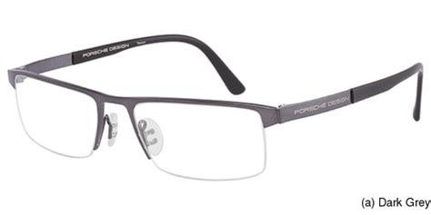 porsche design spectacle frames buy porsche eyewear p8239 semi rimless half frame