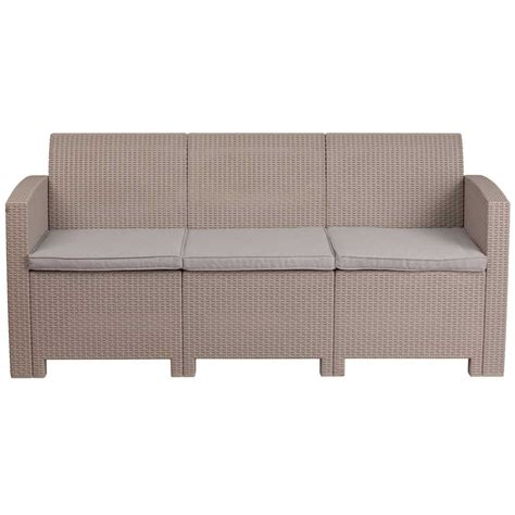 faux wicker outdoor furniture faux rattan outdoor sofa charcoal in outdoor sofas