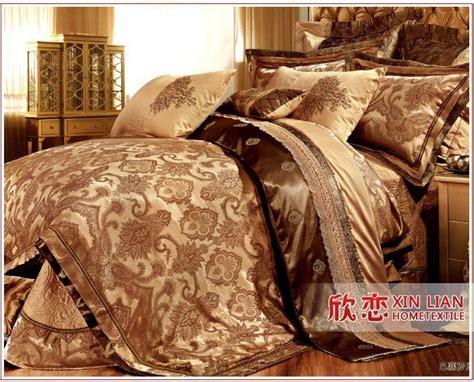 pcs gold comforter set luxury hot sale bedding set king