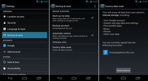 reset android how how to reset android phone to factory settings
