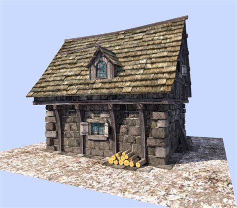 medieval style homes 3d model medieval style house vr ar low poly obj 3ds