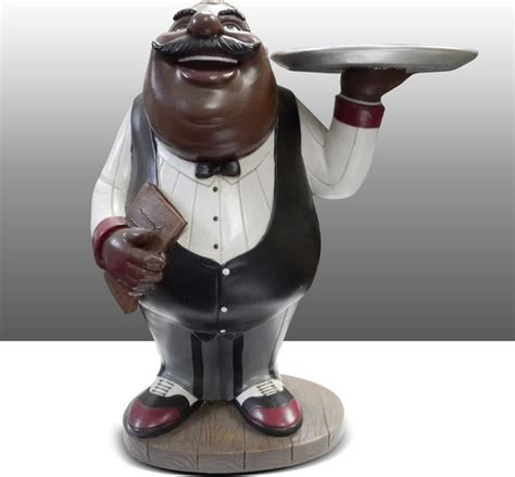Chef Statue For Kitchen by Chef Kitchen Statue Holding Plate Table Decor
