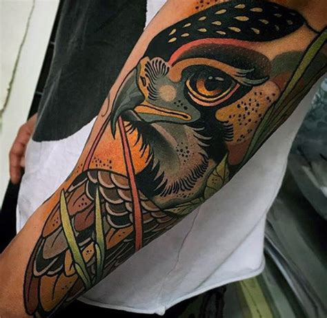 eagle tattoo neo traditional 100 awesome tattoos for guys manly ink design ideas