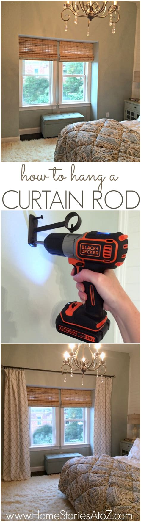how to hang a curtain how to hang a curtain rod and black decker drill giveaway