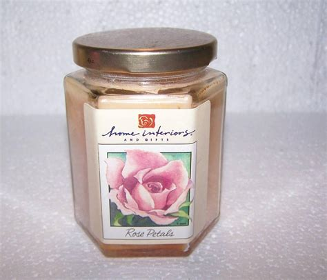 home interiors candle rare htf home interiors gifts homco jar candle rose petals