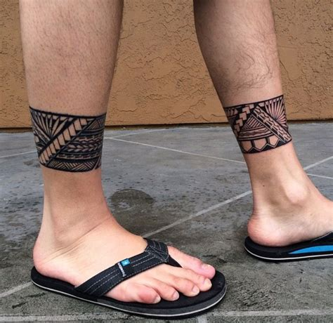tribal leg band tattoos pin by richard mercado on all polynesian