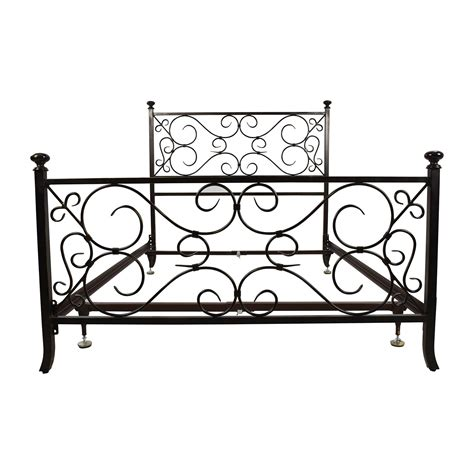 69 Off Black Scrolled Metal Bed Frame Beds Beds Metal Frame