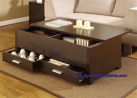 design nama meja model desain meja kopi minimalis trekker laci kayu jati