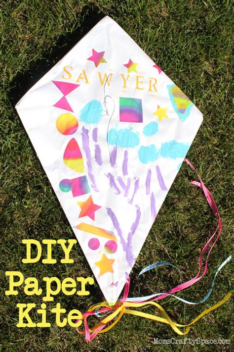 A Paper Kite - craft diy paper kite happiness is